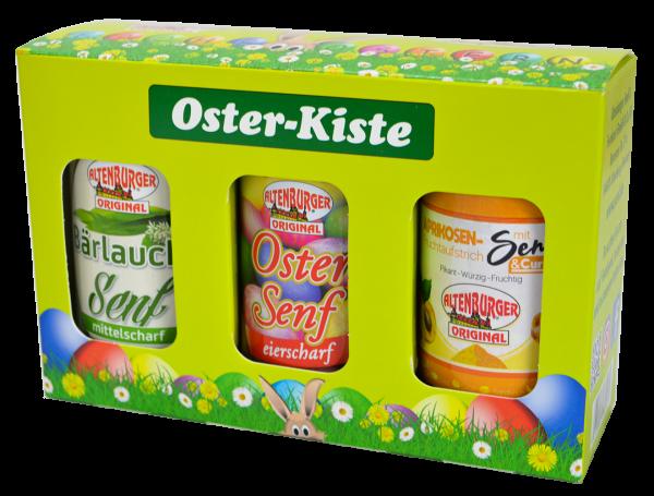 Oster Kiste mit drei leckeren Senfsorten