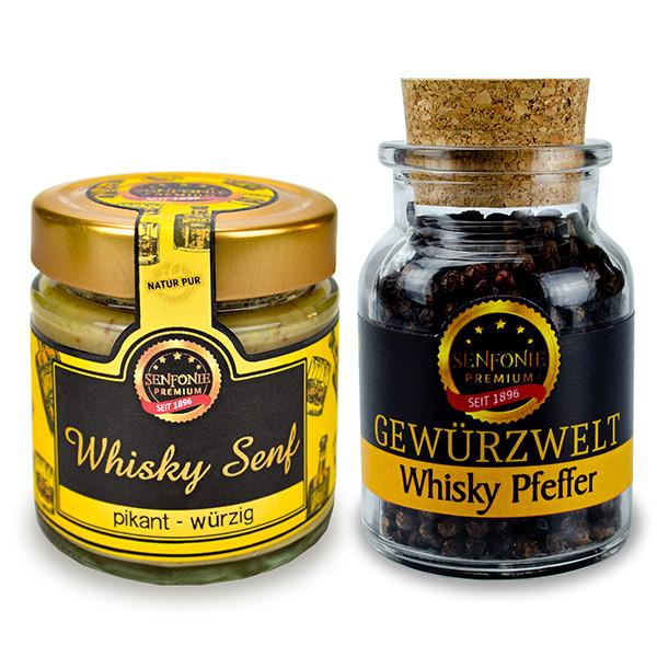 Whisky Set mit Senf & Pfeffer Premium