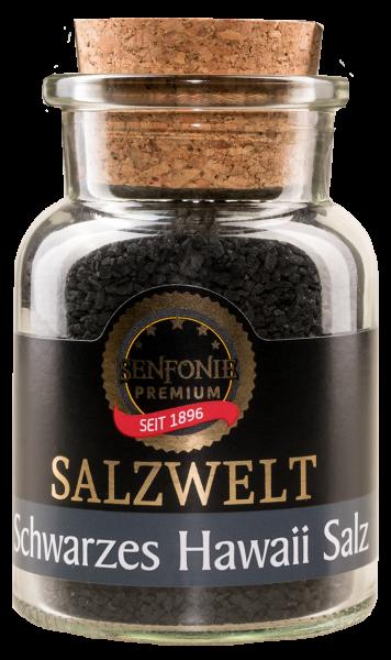 Schwarzes Hawaii Salz im Korkenglas