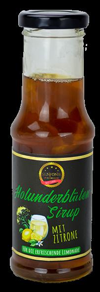 Premium Holunderblütensirup mit Zitrone