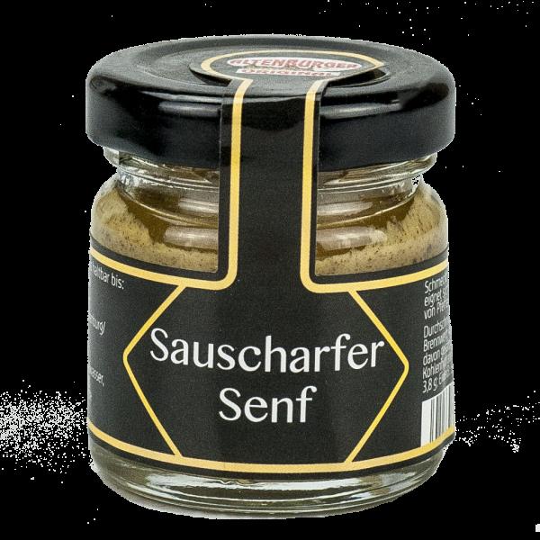 Sauscharfer Senf Mini Glas
