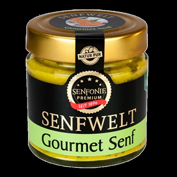Gourmet Senf mit Gurke und Honig verfeinert