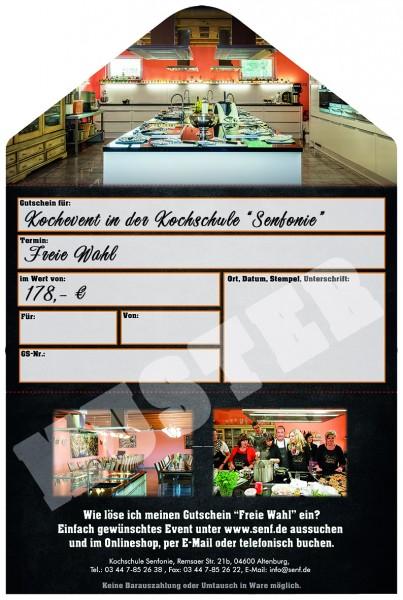 Gutschein Kochevent für zwei Personen 178 €