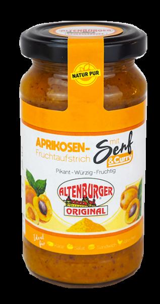 Aprikosen Fruchtaufstrich mit Senf und Curry
