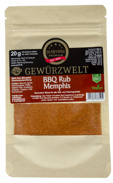 BBQ Rub Memphis Gewürztüte