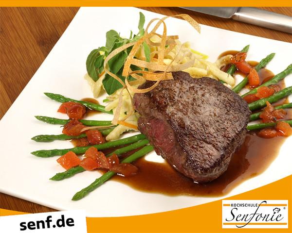 Kochevent Steaks und Saucen Kochschule Senfonie