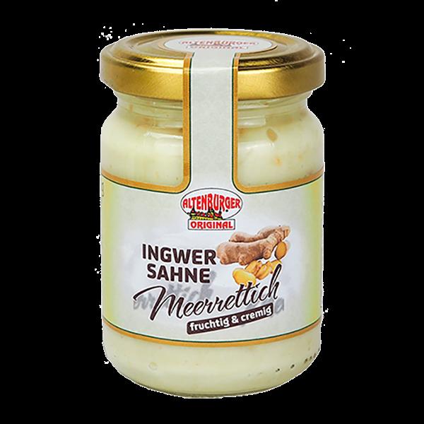 Ingwer Sahne Meerrettich für Käse, Fleisch und Saucen