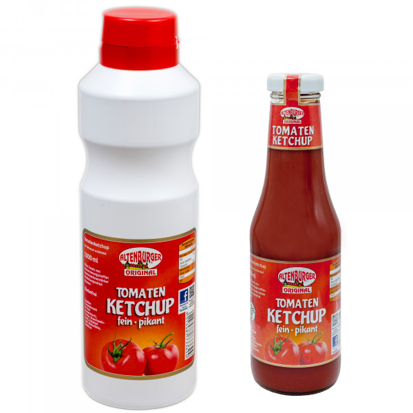 Tomatenketchup 450ml Flasche und 1000ml Spritzflasche