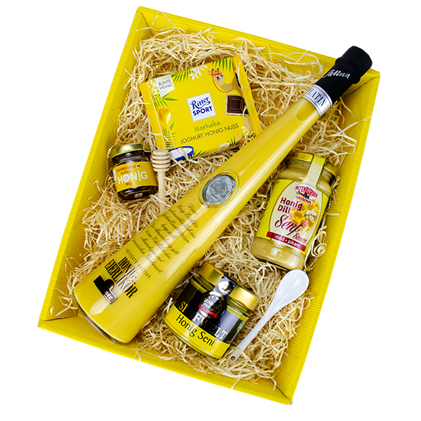 Honig Geschenk gefüllt mit Honig Spezialitäten